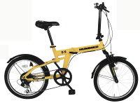 【メーカー直送のためき】【折りたたみ自転車】HUMMERFDB206S20インチ折畳自転車MG−HM206