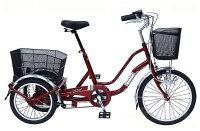 SWINGCHARLIEノーパンク三輪自転車MG-TRW20NE(ワインレッド)