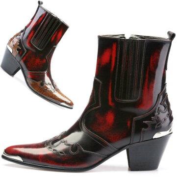 サイドジップレザーブーツ/全2色 ハンドメイドブーツ メンズブーツ ブーツ メンズ レザー 本革 レザーブーツ