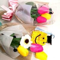 ソープフラワー花束チューリップ5本タイプ花束はなたば