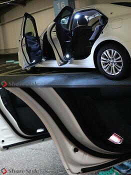 トヨタ車用マルチ発光ユニット付きLEDカーテシランプ18連左右1セット赤白アルファードヴェルファイアエスティマクラウンマジェスタプリウス(送料無料)LEDカーテシランプカーテシ爆光の大人気商品!!