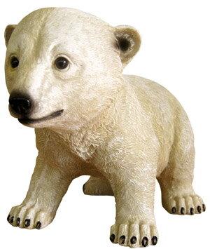 產品詳細資料,日本Yahoo代標|日本代購|日本批發-ibuy99|白くま 置物 フィギュア 人形 小熊 熊 リアル かわいい オーナメント 【白クマちゃん
