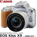【送料無料】 キヤノン EOS Kiss X9 シルバー EF-S18-55 IS STM レンズキット 2254C001 [Canon 小型軽量一眼レフカメラ 2420万画素 バリアングル液晶モニター EOSKISSX9-18-55F4ISSTMLK]の画像