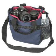 カメラトートバッグ ネイビー デジタル