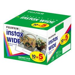 フジフイルム チェキワイド用インスタントカラーフィルム instax WIDE K R5 5パック(10枚入×5) [チェキWIDE instax WIDE 300対応]