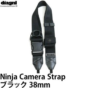 【送料無料】【あす楽対応】【即納】 ダイアグナル ニンジャストラップ38mm ブラック [diagnl Ninja Camera Strap 忍者 たすき掛け ショルダーストラップ]