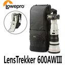 《新品アウトレット》【送料無料】 Lowepro ロープロ LensTrekker 600AWIII [600mmf4付デジタル一眼レフカメラ対応カメラバッグ 600AW3BK]