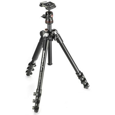 Manfrotto MKBFRA4BH アルミ4段三脚 コンパクト三脚 ビーフリー 旅行用三脚 バッグパックに最適...