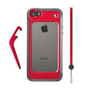 iPhone5/5S用バンパー 付属のキックスタンドで三脚取付対応 iPhoneケースマンフロット MCKLYP5S...