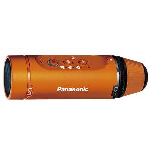 《5月21日発売予定》【送料無料】パナソニックHX-A1H-DウェアラブルカメラA1Hオレンジ[写真・ムービー両方使えるアクションカム/防水仕様/HX1HD/Panasonic]【予約】