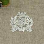 モチーフレース エンブレム ケミカルレース 白 1個単位 日本製 服飾資材 手芸【シープドリームズ】
