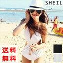 【送料無料】女性 水着 着やせ スイムウェア セクシー ビキニ 白 黒 レディース 夏