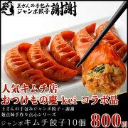 手包みジャンボキムチ餃子10個【お得な中華】【ぎょうざ・ギョーザ・王さん】