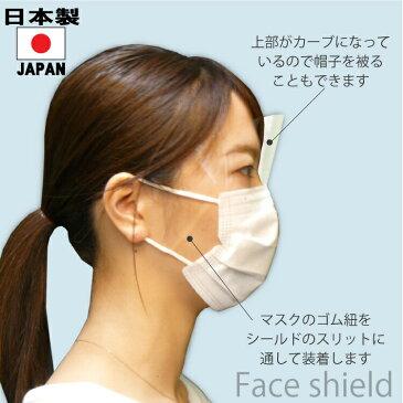 【在庫あり】フェイスシールドCOOL大人用日本製高品質目立たないフェイスカバーフェイスガードマスクで装着透明1枚入り感染感染防止感染予防クロネコDM便(メール便)