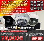 防犯カメラ1台と録画機セットDVRSET-HD001
