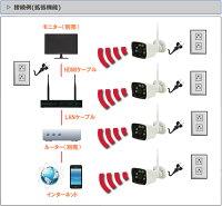 WiFi130万画素万画素ワイヤレスカメラ4台セットキャッチ08