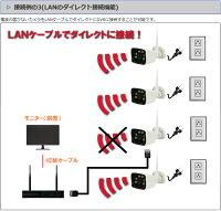 WiFi130万画素万画素ワイヤレスカメラ4台セットキャッチ10