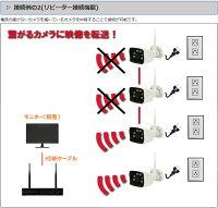 WiFi130万画素万画素ワイヤレスカメラ4台セットキャッチ09