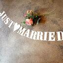 Biscottiだけの特別なウェディングデコレーション【JUST MARRIED】ウェディングガーランド イン...