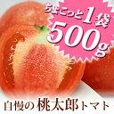 すっきりした酸味と甘み、そして完熟しても皮、果肉もしっかりしているので日持ちがよいトマトです。ちょこっと1袋♪桃太郎完熟トマト(約500g)セット兵庫県 姫路市 網干産