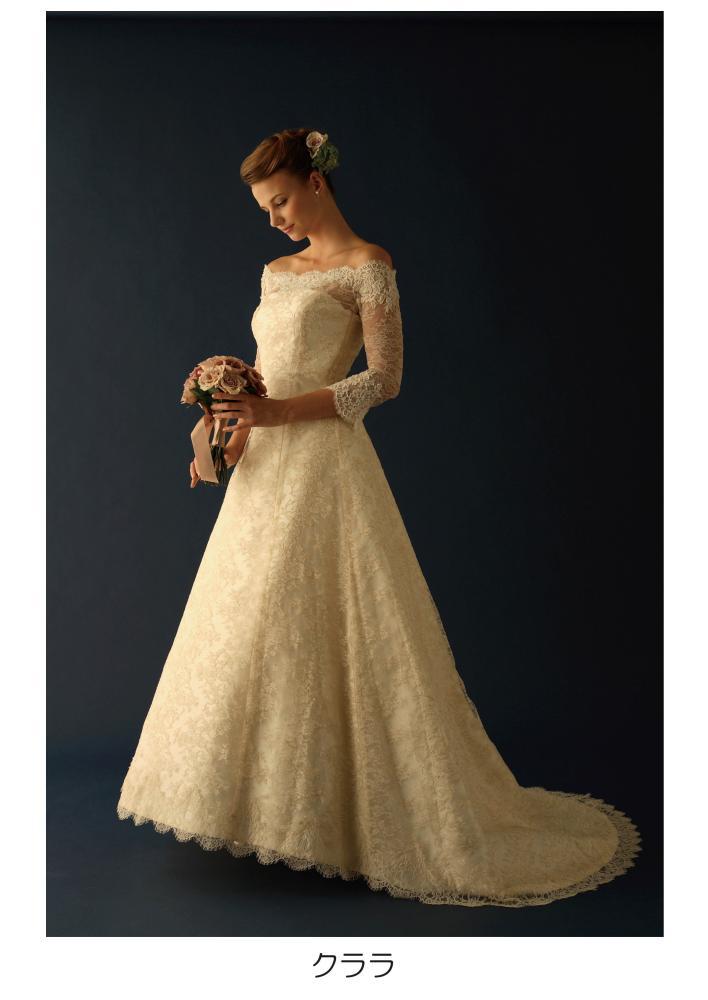 ウェディングドレス 白 ドレス クララ 花嫁 ホワイト 結婚式【レンタル】