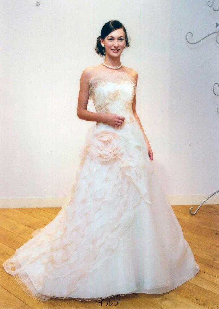ウェディングドレス 白 ドレス イルデ 花嫁 ホワイト 結婚式【レンタル】