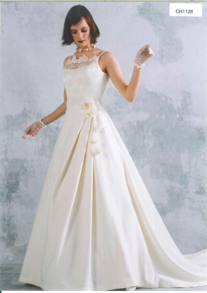 ウェディングドレス 白 ドレス★ S-181 花嫁 ホワイト 結婚式:かしいしょう 和楽