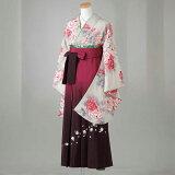 卒業式 袴 レンタル 12点セット 送料無料 ベージュにピンク牡丹柄 Lサイズ