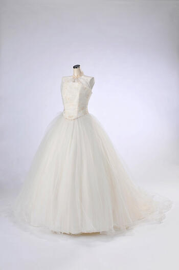 ウェディング ドレス レンタル(11号)[pl024]「2Pハイネックチュールスカート」【挙式におすすめのウェディングドレス。セパレートタイプで着やすさ抜群!シンプルなデザインが上品な花嫁を演出します♪】【レンタル】【感謝祭】【ポイント5倍】