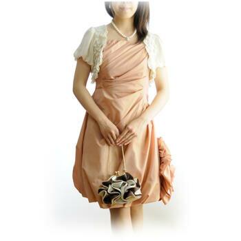 レンタルドレス レディースフォーマル「ベージュバラバルーンスカート」9号 g010【送料無料(一部地域を除く)】【お宮参り】【ミセス】セット品【レンタル】【ポイント10倍セール】