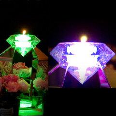 キャンドル レンタル「(ゲスト卓)LED ダイヤモンド」【5個よりご注文承ります】【レンタル】【Fashion The Sale】【お中元大市】
