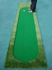 【練習するなら本物で上達!】職人が丁寧に創った本格的なゴルフパターマットです。特盛り打ち...