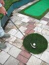 本格人工芝で職人が創った●アプローチマット50●円形50cm