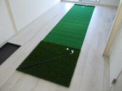 【練習するなら本物で上達!】職人が丁寧に創った本格的なゴルフパターマットです。盛打ちパタ...
