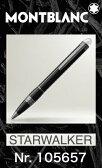 モンブラン 105657 ボールペン【2年間★メーカー国際保証付】名入れ 正規ギフト包装リボン可 スターウォーカー ミッドナイトブラック レジン MONTBLANC STARWALKER MIDNIGHT BLACK Ballpoint Pen 正規並行輸入品 高級文具 25690
