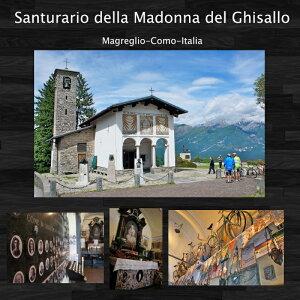 【数量限定】ITALY自転車用お守りペンダントコインタイプ(ゴールド)「サイクリストの聖地」イタリア『サンタ・マドンナ・デル・ギッサロ教会』SantuarioMadonnadelGhisallo正規品ロードバイククロスバイク等のお守り大切な人へ!!