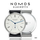 ノモス NOMOS タンジェント 101 メンズ 腕時計【メーカー国際保証2年間付き】Tangente スモールセコンド 35mm TN1A1W1 ホワイト×ブラック ステンレススチールバック 時計 ドイツ製 GLASHUTTE 手巻き