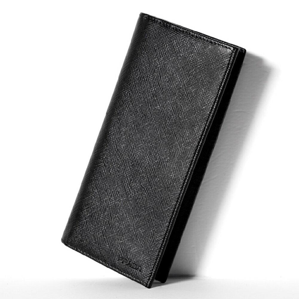 c95b6be3c1df ブラック ウォレット プラダ 【ギフト 純正紙袋選択可】 2つ折り ! サフィアーノ 【新品