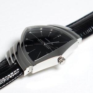 HAMILTONハミルトンベンチュラH24411732メンズ【2年間国際保証付き】VENTURAクオーツブラックレザー腕時計ビジネス時計正規並行輸入品クォーツスイスメイド送料無料カード利用可ギフトプレゼント