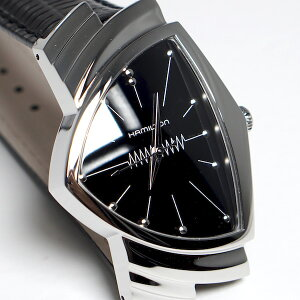 【2年間正規保証付き】ハミルトンHAMILTON【H24411732】ベンチュラクオーツVENTURA自動巻きメンズ腕時計ビジネス時計正規並行輸入品ブラックPVD黒スイスメイドエルヴィス