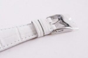大特価【新品/正規純正品】ガガミラノレザーベルトホワイトWhite白シルバー尾錠付きフェイス48mm用腕時計ベルト5010.15010.25010.65010シリーズ、5011シリーズクロノ6050シリーズなどGaGaMilano