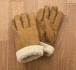 ラムスキン手袋ブラウン