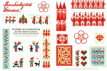 フレメ クロスステッチ刺繍図案 輸入 DANSKE JULEMOTIVER デンマークのクリスマスモチーフ Haandarbejdets Fremme デンマーク 北欧 52-2105