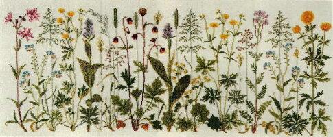 フレメクロスステッチ刺しゅう輸入キットPrairieflowers草原の花HaandarbejdetsFremmeデンマーク刺繍北欧12BGB上級者30-4654