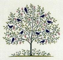 クロスステッチ刺繍キット輸入フレメBLAAFUGLE青い鳥HaandarbejdetsFremmeデンマーク北欧刺しゅうGB12B上級者30-5334