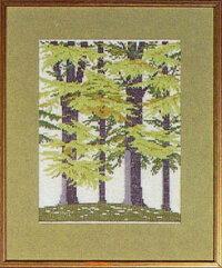 フレメ(Fremme)クロスステッチ刺しゅうキットブナの森Beechforestデンマークゲルダベングトソン北欧上級者30-5939