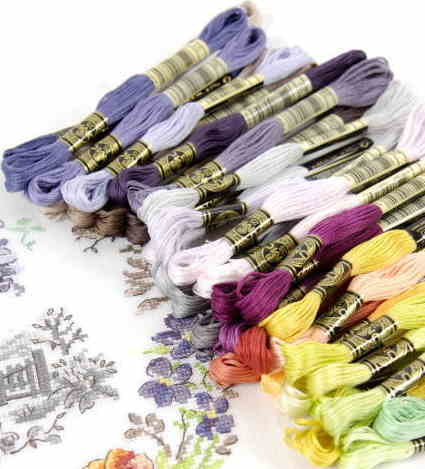 【DM便対応】DMC (グラデーション系) 48番〜53番 25番刺繍糸 クロスステッチ エンブロイダリー 糸 刺繍 刺繍糸 dmc
