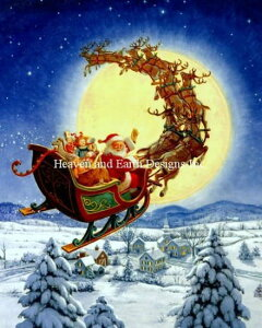 Heaven And Earth Designs クロスステッチ刺繍図案 輸入 HAED 上級者 Ruth Sanderson メリークリスマス Merry Christmas to All 全面刺し