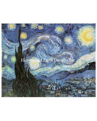 VincentVanGough(フィンセント・ファン・ゴッホ)名画【星月夜-StarryStarryNightVV-】絵画美術芸術作品クロスステッチ刺しゅうチャートHAEDHeavenAndEarthDesigns図案
