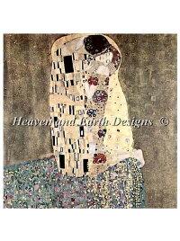 クリムト接吻TheKiss-Klimtししゅう図案HAEDHeavenAndEarthDesignsクロスステッチ輸入上級者全面刺し
